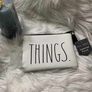 """Rae Dunn """"THINGS"""" zippered pouch NEW"""